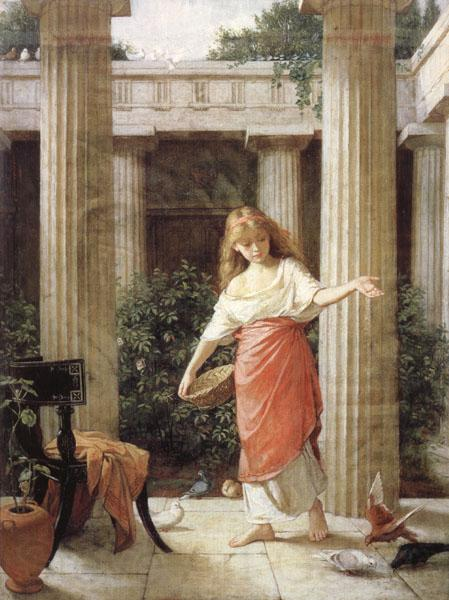 John William Waterhouse In the Peristyle